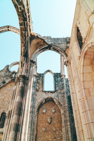 Convent Of Our Lady Of Mount Carmel (Convento da Ordem do Carmo) Is A Gothic Roman Catholic Church Built In 1393 In Lisbon City Of Portugal Stock fotó