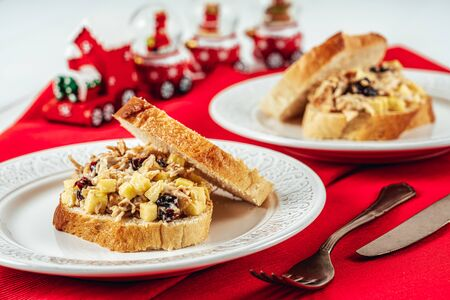 Cranberry, Apple And Turkey Mayonnaise Sandwiches