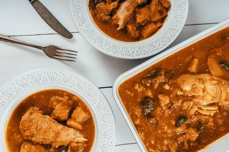 Chicken Balti With Peppers, Cauliflower, Butternut Squash And Tomato Sauce