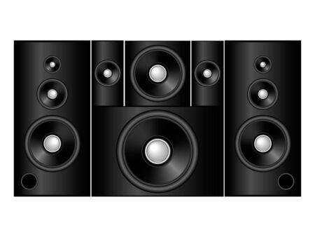sound system: elegante negro 5 1 sistema de sonido