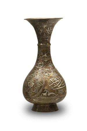 antique vase: old ancient byzantine vase isolated on white background