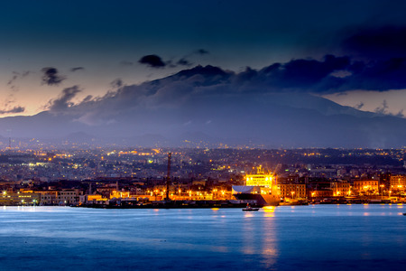 catania: Catania at sunset