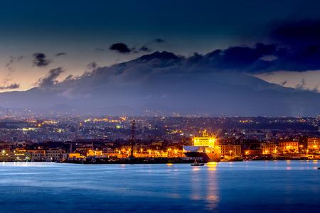 Catania at sunset