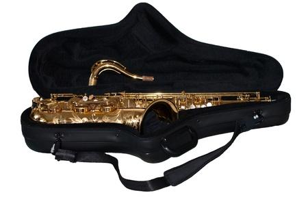 saxy: Saxophone in its case
