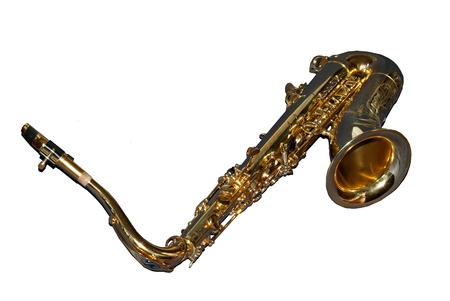saxy: Saxophone on a white background