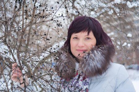 winter woman: Woman in winter one