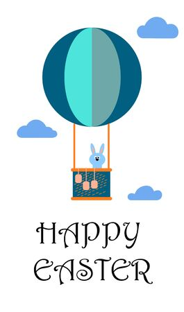 Happy Easter greeting card with lettering .