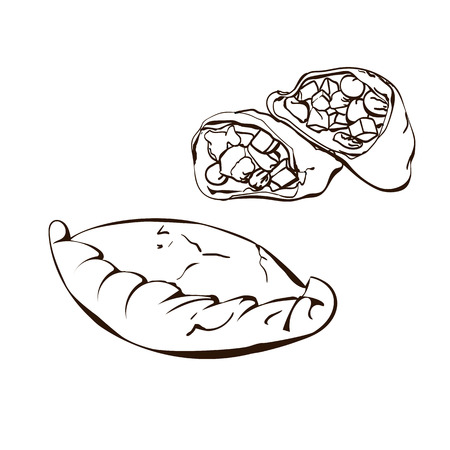 Bakery products graphic Illustration Illustration