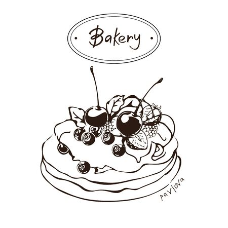 Pavlova Graphic Illustration Illustration