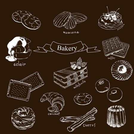 Bakery product illustration. Vectores