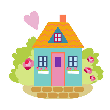 cute house. vector illustration