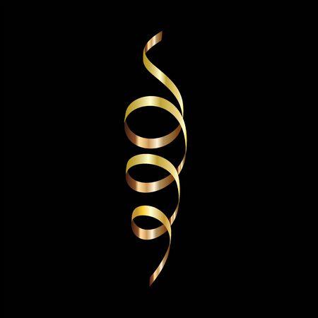 Ribbon banner set. Golden ribbons.Vector illustration. Ilustração