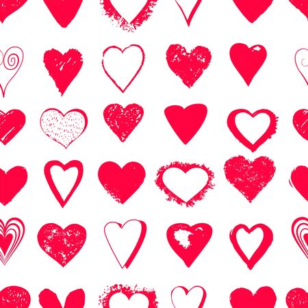 Read seamless heart background