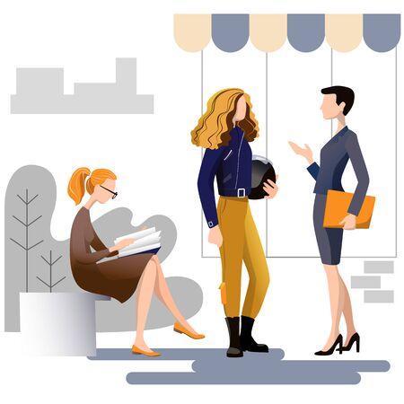 Women different profession character vector design. Ilustração