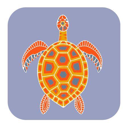 Sea turtle icon. Vector illustration. Color image vector illustration Ilustração