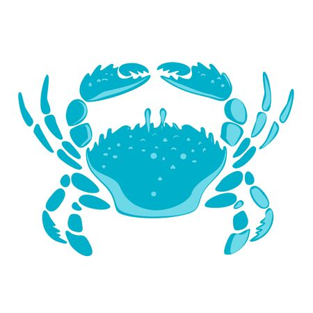 Hand drawn crab sketch vector illustration. Seafood vector Illusztráció