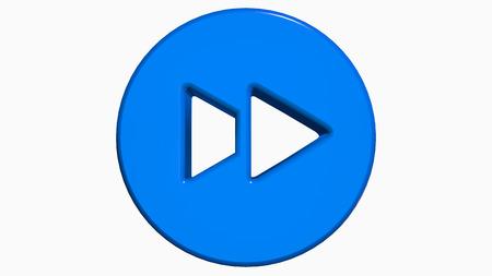 fast forward: Blu 3D veloce icona pulsante Avanti
