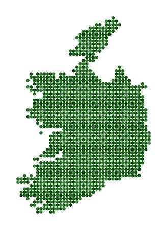 republic of ireland: Stylized map of Republic of Ireland