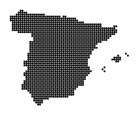 iberian: Map of Spain made from black and grey dots