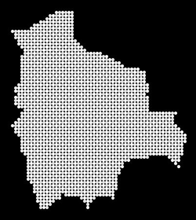mapa de bolivia: Mapa estilizado de Bolivia hecha de puntos blancos y grises