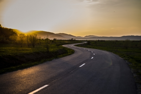 scenic drive: On the curvy road again Stock Photo