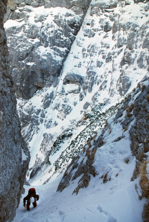Winter climbing in Bucegi Mountains photo