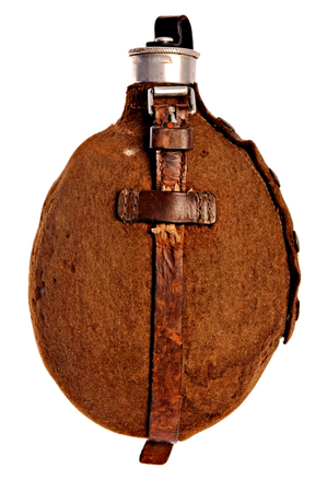 world war two: Old military flask from World War Two Stock Photo