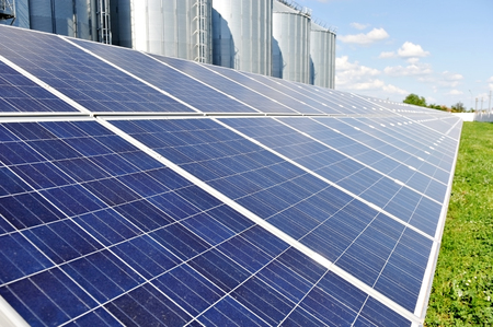 energy industry: Renewable energy industry detail with photovoltaic panel