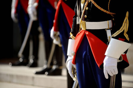 ceremonial clothing: Uniform detail of ceremonial guards of honour