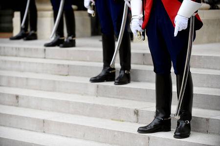 ceremonial: Uniform detail of ceremonial guards of honour