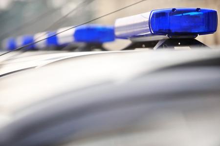 車の青い警察サイレン ライトの詳細