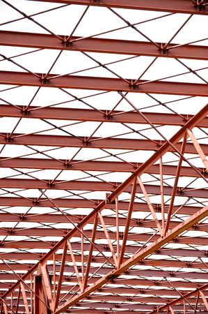 red metal: Industrial architecture shot with a red metal structure