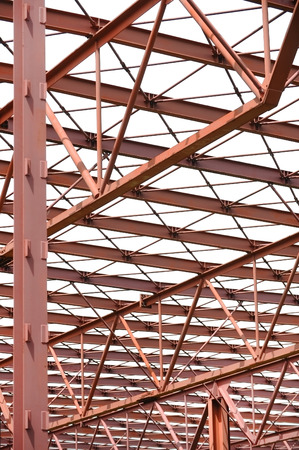 metal structure: Industrial architecture shot with a red metal structure