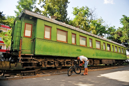 dictator: GORIGEORGIA - JULY 2: Stalins personal train wagon is seen in a museum dedicated to the great russian dictator in his birthplace town, on July 2, 2014 in Gori. Editorial