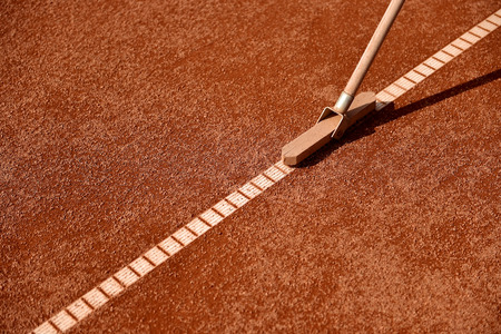 tennis clay: Broom tool for tennis clay court maintenance