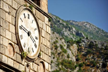 vegetation: Old clock tower with vegetation growing on it in Kotor