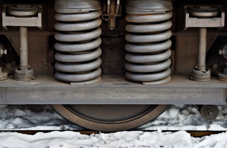 amortization: Industrial spring amortization mechanism on a train chassis