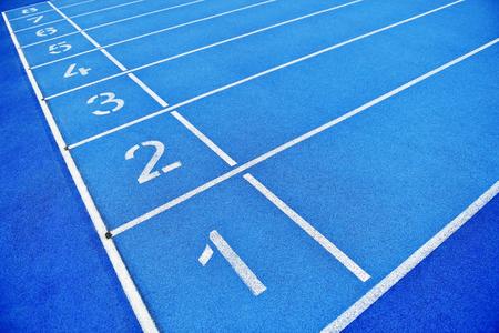 pista azul y sprint final campo posiciones de línea con ningún pueblo
