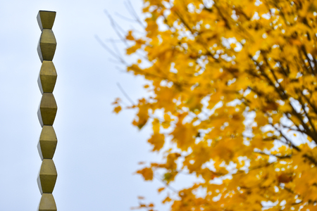 constantin: The Endless Column sculpture made by Constantin Brancusi in the memory of romanian fallen soldiers of World War One  Stock Photo