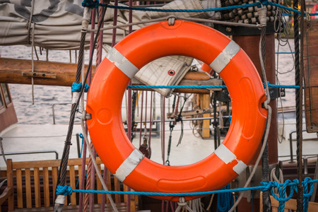 Lifebuoy carried by ship