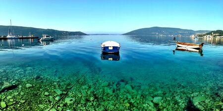 montenegro: Transparent sea Zelenika Montenegro Stock Photo