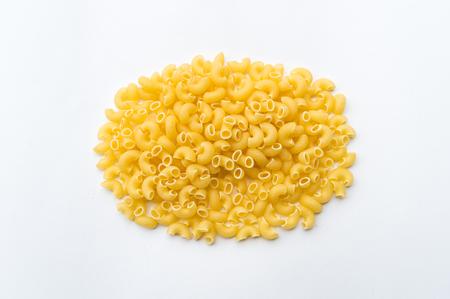elbows: Pasta macaroni elbows isolated on white background