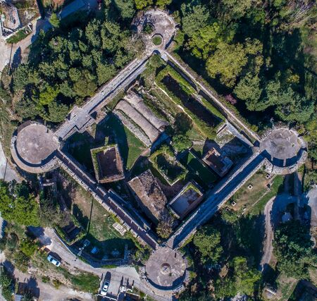 Drone view of the barracks in the fortress Spanjola Stock Photo
