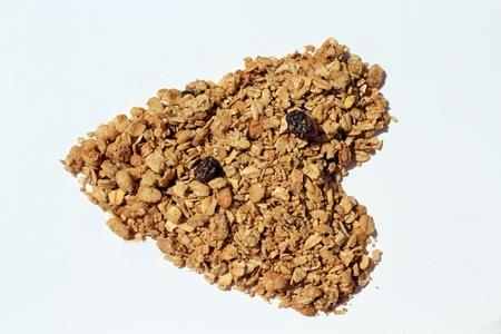 Granola in shape of a heart