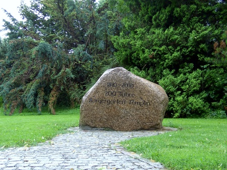 Stone tablet, 200 years of civil garden