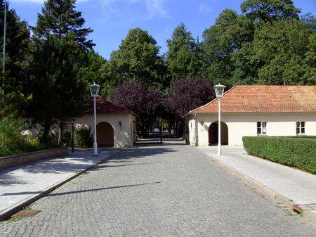 Entrance to the baroque castle Sch�nhausen
