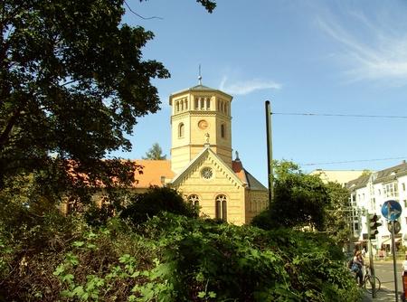 Peace church on the place Ossietzky in Berlin Niederschonhausen