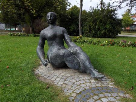 Bronze figure in the harbour