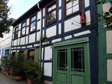 Half-timbered house in the Old Town Templin