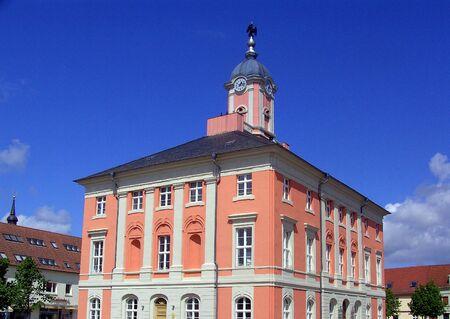 Historical city hall in Templin photo